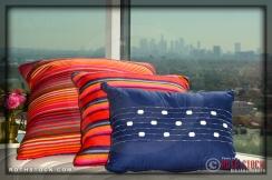 Blue Pillow designed by Eva Longoria