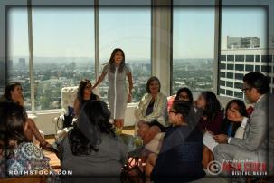 Eva Longoria enjoys time with the honorees.