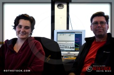 (L-R) Chief Timer Ruth MacLean and Assistant Timer James Rice