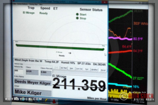 Data Display in the Timing Trailer