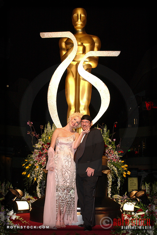 Lee Roth and guest Alexandra attend the 75th Annual Academy Awards
