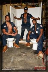 Redway Brothers (L-R) Drew, Leonard and Owen - LA's Sexiest Plumbers