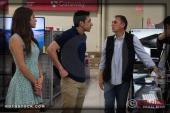 Actors Kristina Jiminez and Beto Ruiz with director Jorge Cano