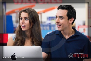 Actors Kristina Jiminez and Beto Ruiz