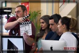 PA John Poindexter with actors Kristina Jiminez, Beto Ruiz and Abby Gavino
