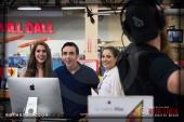 Actors Kristina Jiminez, Beto Ruiz and Abby Gavino with Kyle McClane, Sound