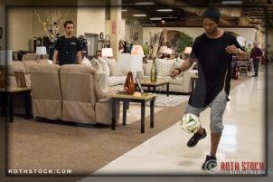 AD Brandon Cano-Errecart and Ronaldinho Gaúcho (Ronaldo de Assis Moreira)