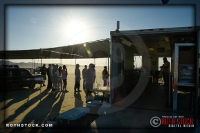 Driver registration area at SCTA - Southern California Timing Association's Land Speed Races at El Mirage Dry Lake