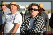 Chief timer Ruth MacLean at SCTA - Southern California Timing Association's Land Speed Races at El Mirage Dry Lake