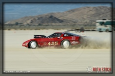 Driver Dean Kennedy of Kennedy Racing on his 212.144 mph run at SCTA - Southern California Timing Association's Land Speed Races at El Mirage Dry Lake