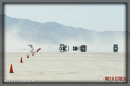 An emergency response at SCTA - Southern California Timing Association's Land Speed Races at El Mirage Dry Lake