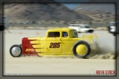 Driver Neil McAlister of BMR Ferguson Racing on his 188.517 mph run at SCTA - Southern California Timing Association's Land Speed Races at El Mirage Dry Lake