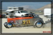 Driver Rich Thomas of Thomas & Augusta Racing on his 58.273 mph run at SCTA - Southern California Timing Association's Land Speed Races at El Mirage Dry Lake