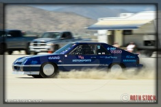 Driver Jeremy Teepen of H&H Motorsports on his 184.075 mph run at SCTA - Southern California Timing Association's Land Speed Races at El Mirage Dry Lake