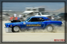 Driver Gary Hahn of The California Special on his 177.657 mph run at SCTA - Southern California Timing Association's Land Speed Races at El Mirage Dry Lake