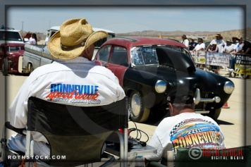 Starting line atmosphere at SCTA - Southern California Timing Association's Land Speed Races at El Mirage Dry Lake