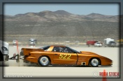 Driver Chris Hart of Shields Racing on his 211.106 mph run at SCTA - Southern California Timing Association's Land Speed Races at El Mirage Dry Lake