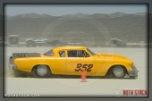 Driver Terry Coe of Coe Family Racing on his 181.466 mph run at SCTA - Southern California Timing Association's Land Speed Races at El Mirage Dry Lake