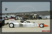 Driver C. Greenlaw of XETEX Racing on his 167.628 mph run at SCTA - Southern California Timing Association's Land Speed Races at El Mirage Dry Lake