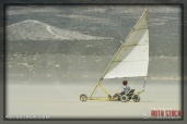 Land sailing near race camp at SCTA - Southern California Timing Association's Land Speed Races at El Mirage Dry Lake