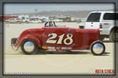 Driver Randall Foehner of EightinaRowRacing on his 158.627 mph run at SCTA - Southern California Timing Association's Land Speed Races at El Mirage Dry Lake