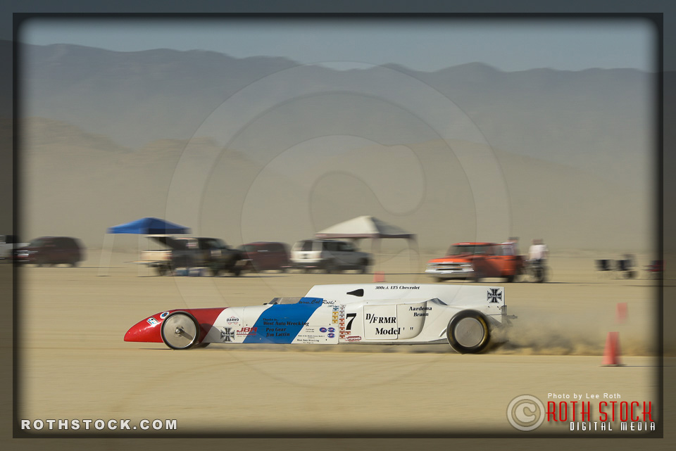 Driver Cal Rothe of Aardema Braun Lattin on his 222.464 mph run.