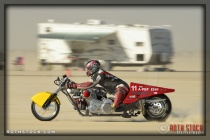Rider Randy Speranza of Speranza Brant Robinson on his 34.950 mph run