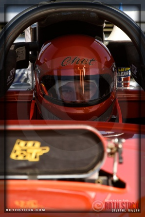 Driver Chet Thomas of Thomas & Augusta Racing prepares for his 191.101 mph run
