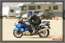 "Rider Steve ""Papi"" Chappell of Shooting Star on his 192.935 mph run"