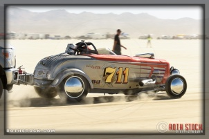 Driver Chet Thomas of Thomas & Augusta Racing on his 191.101 mph run