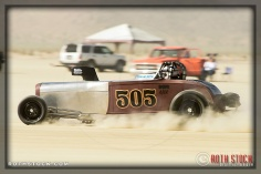 Driver Mike Kilger of Deeds Meyer Kilger on his 165.851 mph run