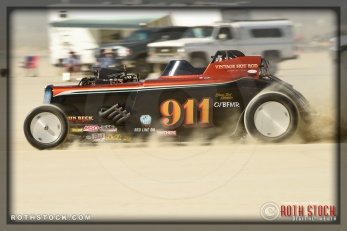 Driver David Davidson of Cummins Beck Davidson Thor on his 241.528 mph run