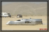 Driver David Boultwood of Stuhaan-Rogers-Kipe on his 130.042 mph run