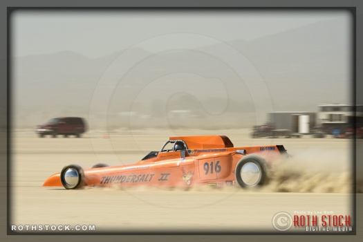 Driver Brian Dean of Thomas & Deans Thundersalt on his 212.903 mph run