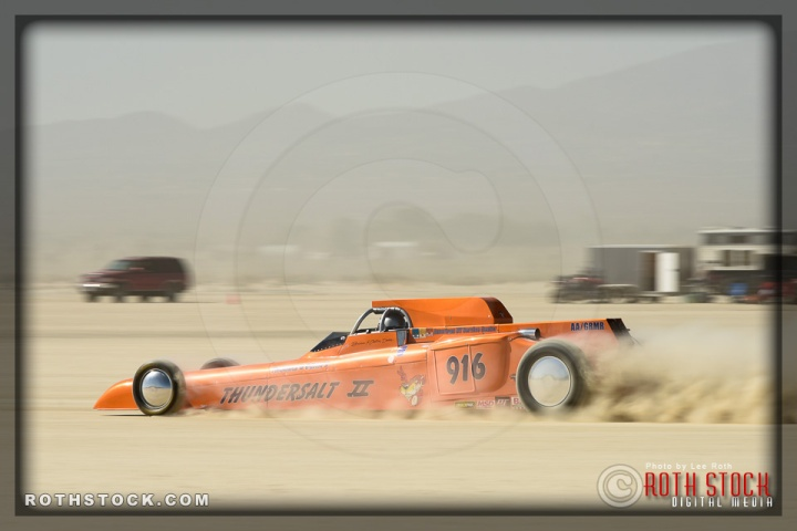 Driver Brian Dean of Thomas & Deans Thundersalt on his 212.903 mph run