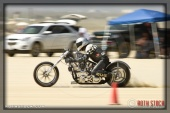 Rider Bill Chambers of Bill Chambers Racing on his 166.904 mph run