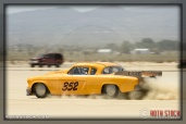 Driver Justin Coe of Coe Family Racing on his 92.249 mph run