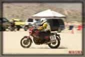 Rider Ken Canaga of Left Coast Racing on his 111.488 mph run