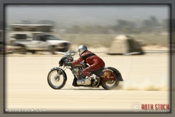 Rider Johnny McClure of McClure Special on his 144.196 mph run