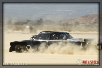 Driver Brandon Leggitt of Arnold Hoddinott Leggitt Salki on his 227.197 mph run