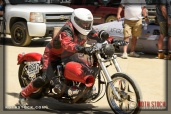 Rider RT Williams of Half Tank on his 123.508 mph run
