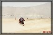 Rider RT Williams of Half Tank on his 123.508 mph run