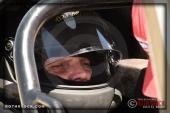 Driver Rob Brissette of Brissette Racing prepares for his 193.487 mph run