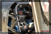 Driver Rob Brissette of Brissette Racing prepares for his 193.487 mph run