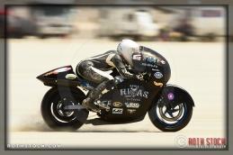 Rider Cayla Rivas of Cayla Rivas Racing on her 133.073 mph run