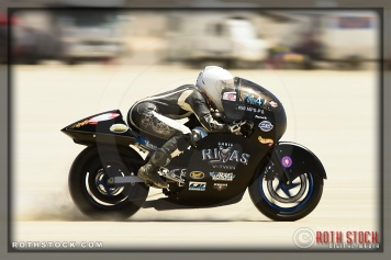 Rider Cayla Rivas of Cayla Rivas Racing on her 133.073 mph run