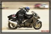 Rider Ken Keller of Ken Keller Racing on his 171.827 mph run