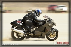 Rider Ken Keller of Ken Keller Racing on his 171.827 mph run