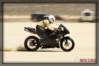 Rider Billy Jahn of Lost Boys Racing on his 163.283 mph run