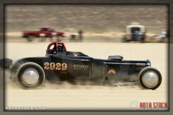 Driver David Slater of SHP Racing on his 127.207 mph run